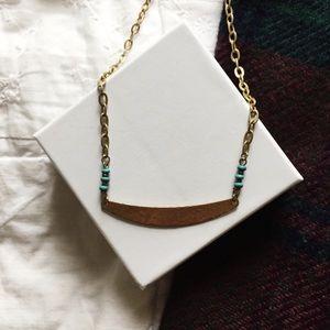 minimalist aztec inspired necklace